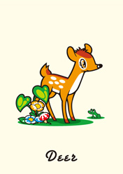 Bambi and frog / 子鹿とカエル